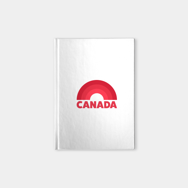Canada Retro Rainbow Badge Red