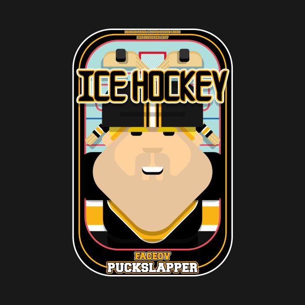 Ice Hockey Black and Yellow - Faceov Puckslapper - Sven version