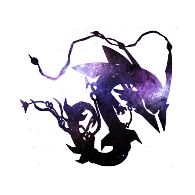 pokemon mega rayquaza and space black version rayquaza t
