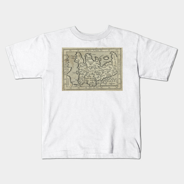 Map Of England For Kids.Vintage Map Of England 1603 England Map Kids T Shirt Teepublic