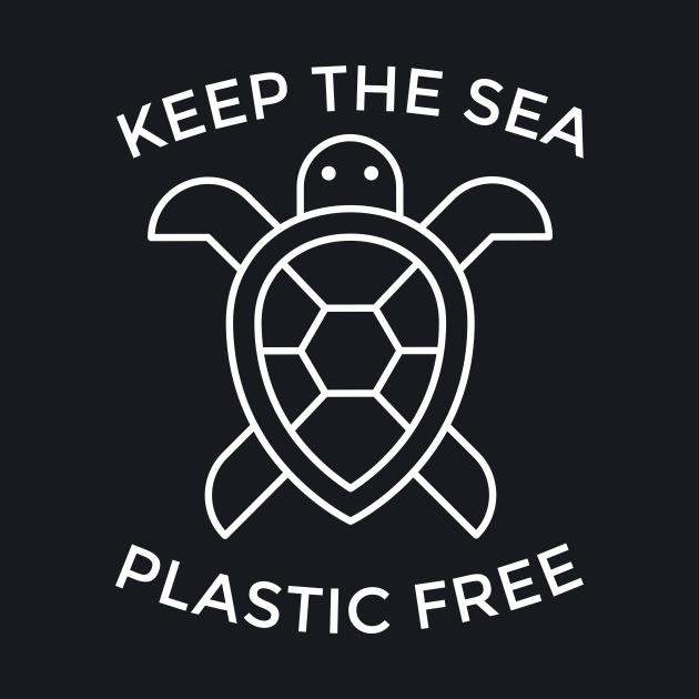Keep the sea plastic free. Motivational typography.