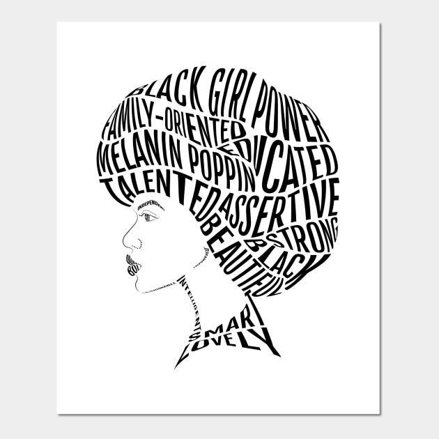 Afro Hair Word Art Design