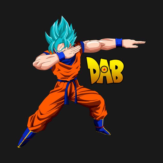 Super Saiyan God Blue Goku Dab - Goku - T-Shirt | TeePublic