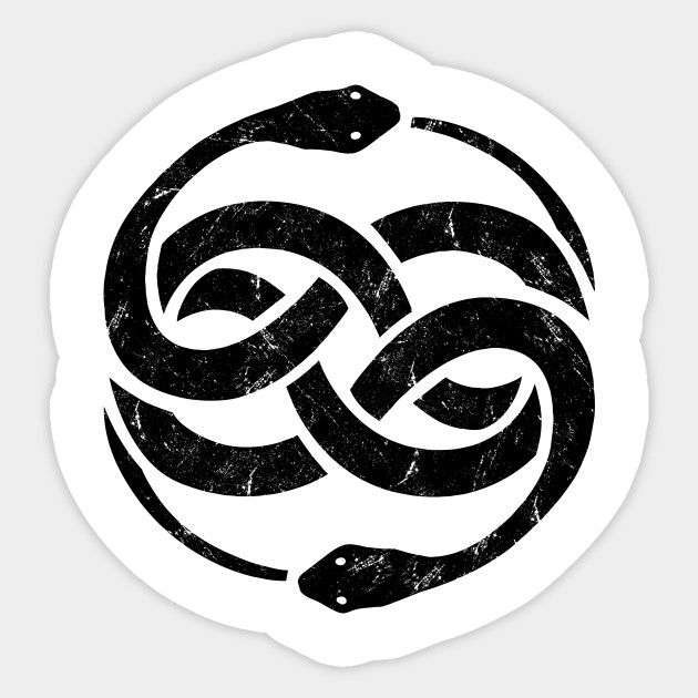 The Neverending Story Snake Symbol The Neverending Story Sticker