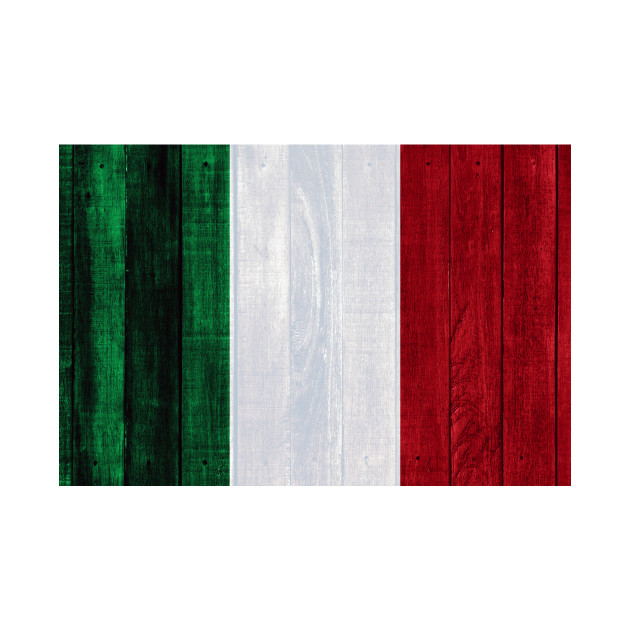 Flag of Italy - Wood