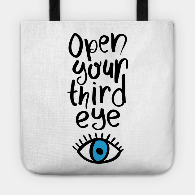 Open your third eye yoga meditation design text
