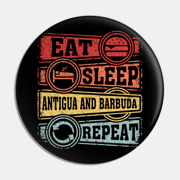 Eat Sleep Antigua and Barbuda Repeat