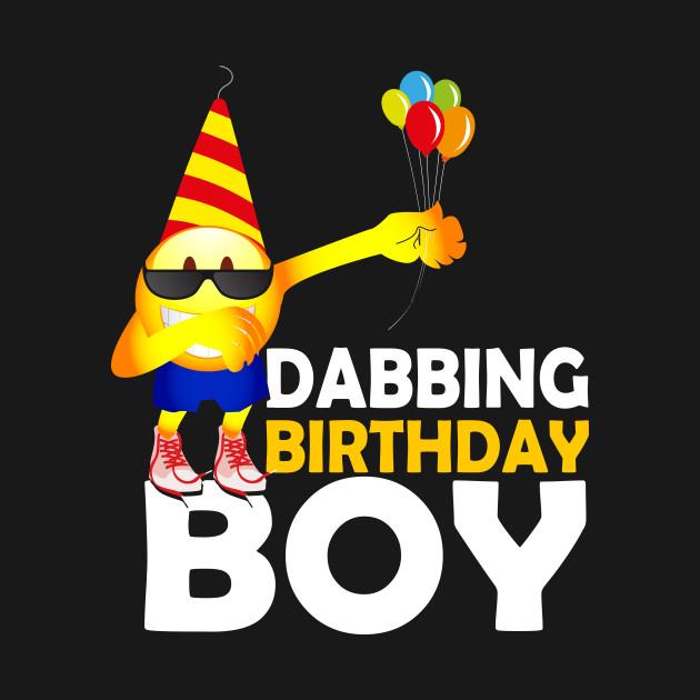 DABBING Emoji Birthday Shirt For Boys
