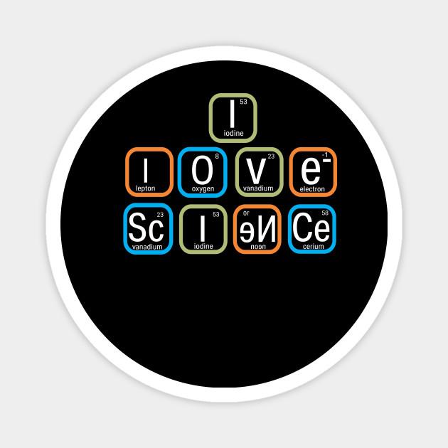 Funny Science ThemedI Love Science Oval Sticker