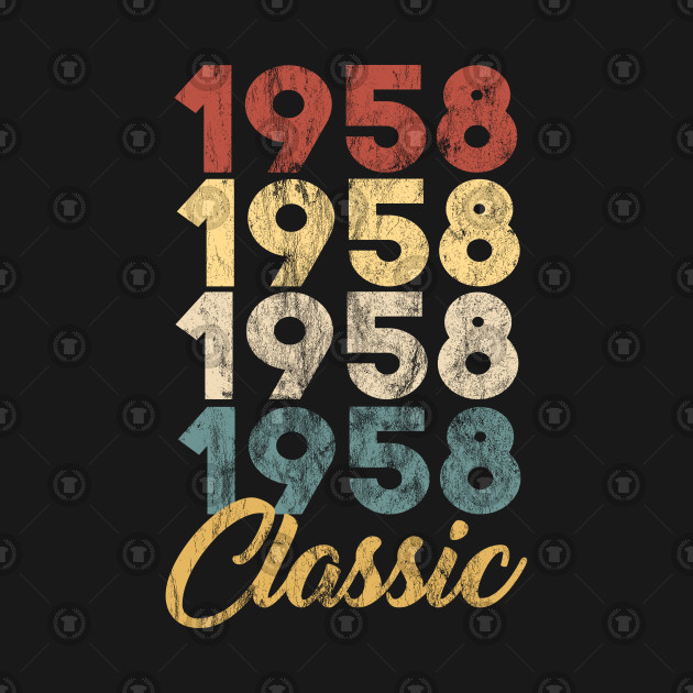 61st Birthday Gift for Men and Women Born in 1958 Classic 61st Birthday Party