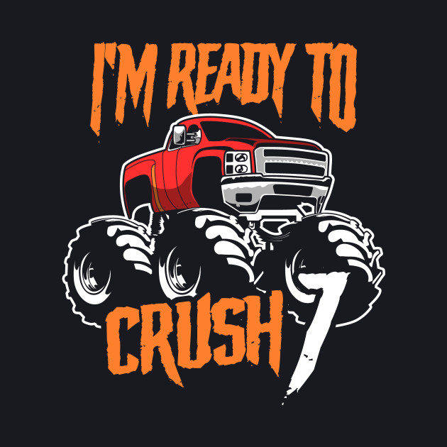 Monster Trucks 7th Birthday Gift | Big Trucks