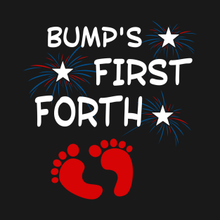 9d2f2ba86 Independence Day Bump's First 4th of July T-Shirt