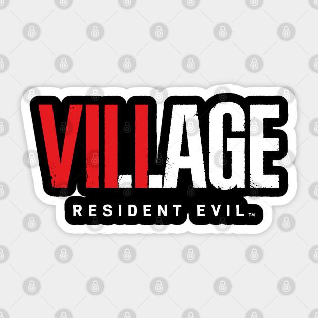 Resident Evil 8 Village Text Logo Resident Evil Village
