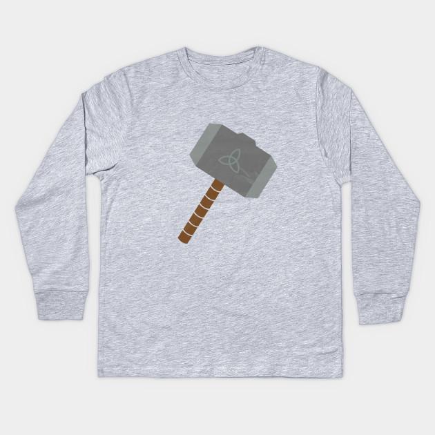 Thors Hammer Symbol Thors Hammer Kids Long Sleeve T Shirt