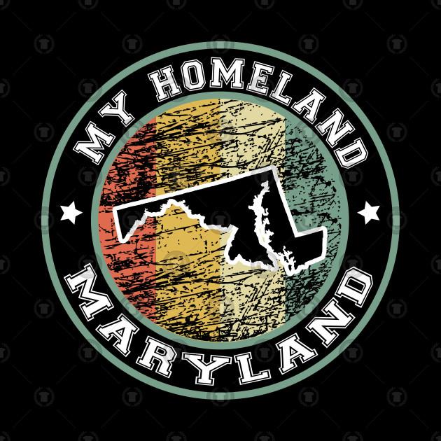 Homeland Maryland state USA vintage