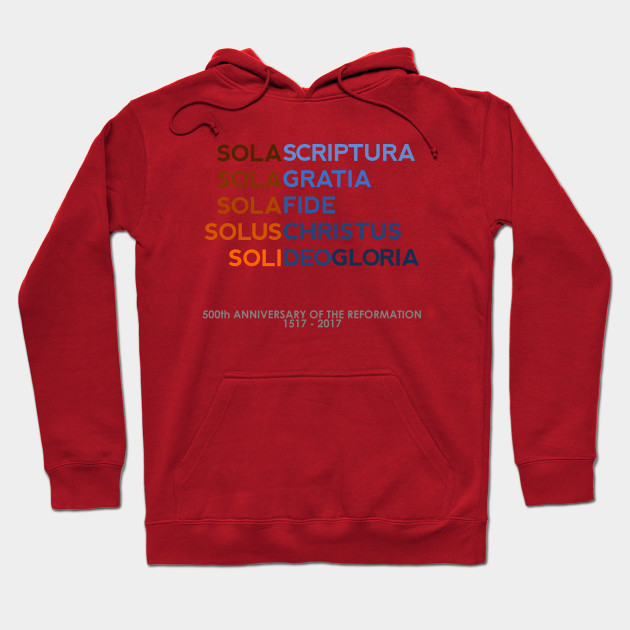 Five Solas of the Reformation (with 500th anniversary tag) T-Shirt
