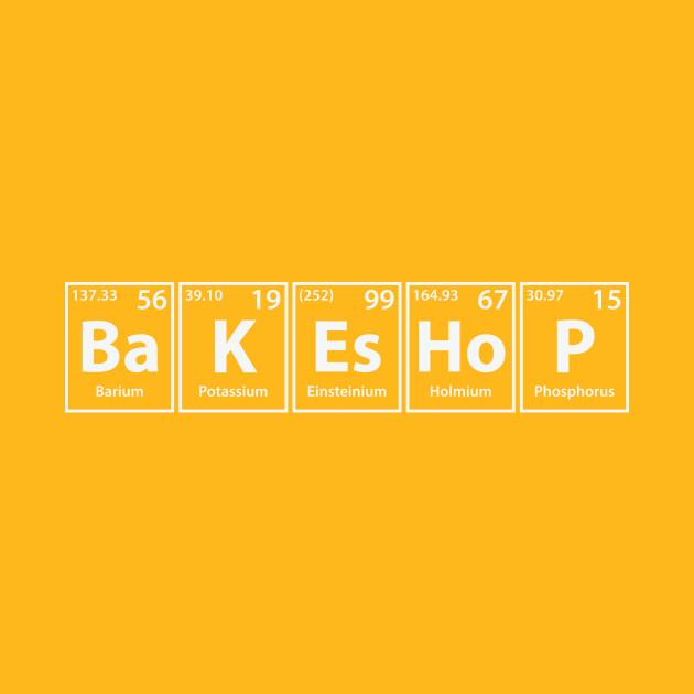 Bakeshop (Ba-K-Es-Ho-P) Periodic Elements Spelling