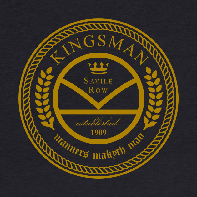 Kingsman the tailors - black and gold