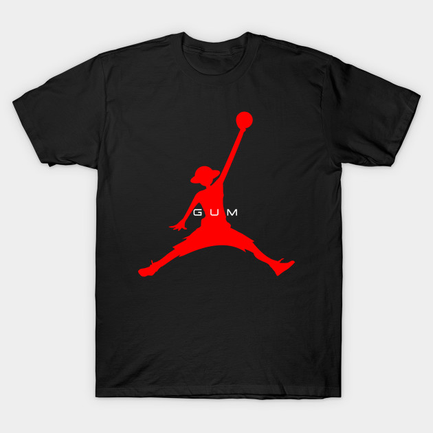 8a0b3067c8f8 Air Luffy (red on black) - Air Jordan - T-Shirt