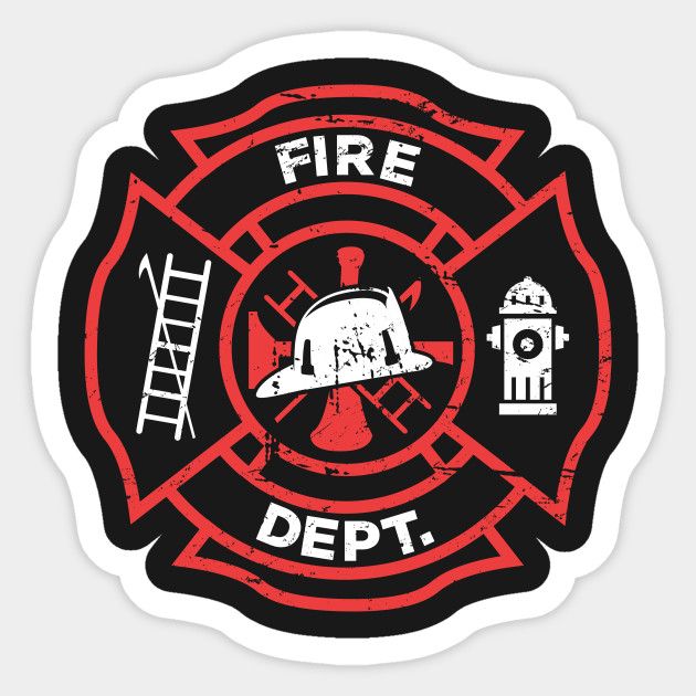 Distressed Firefighter Logo