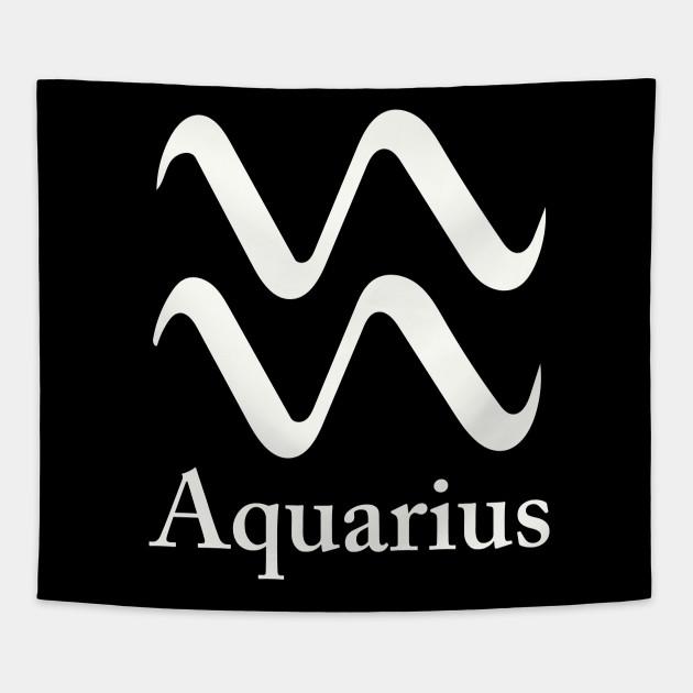 Aquarius Symbol Aquarius Tapestry Teepublic