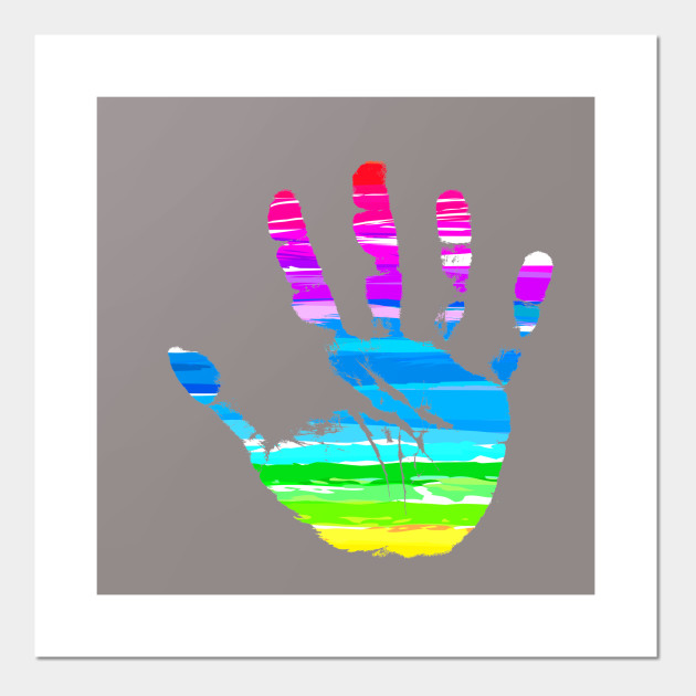 Abstract Hand Palm Print Design