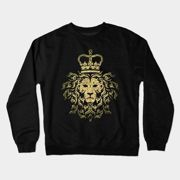 be590819 Vintage Gucci - Majestic Lion - Lion - Crewneck Sweatshirt | TeePublic