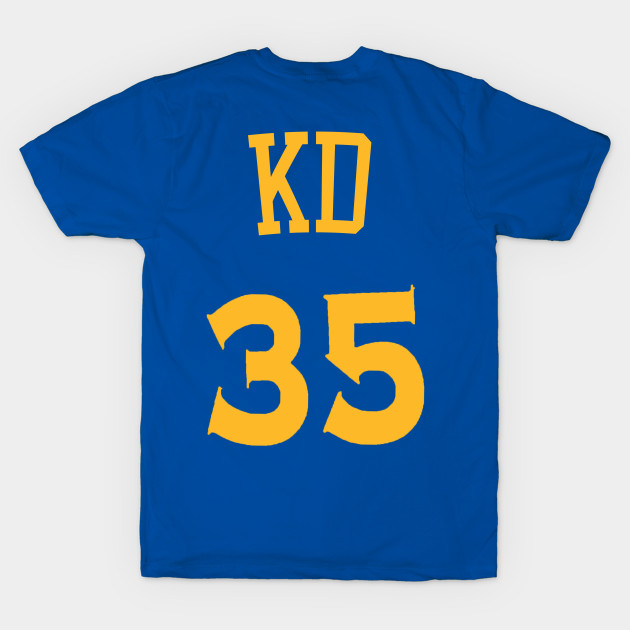 sports shoes 2709e a09bb Kevin Durant 'KD' Nickname Jersey - Golden State Warriors