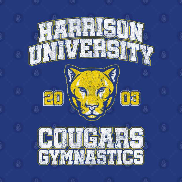 Harrison University Cougars Gymnastics (Variant) - Old School