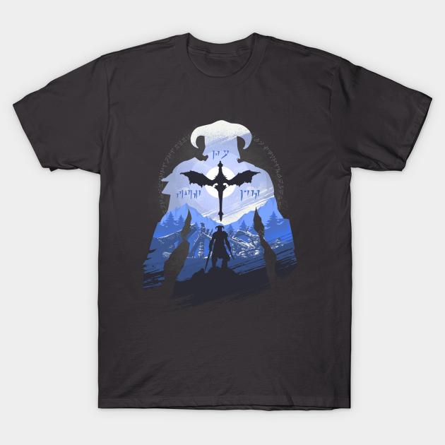 Official THE ELDER SCROLLS Skyrim Last Dragonborn T SHIRT Quality Gaming Gift