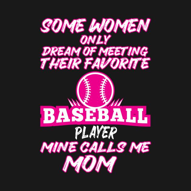 b7a730831 ... Womens My Favorite Baseball Player Calls me Mom T-Shirt Mother Gift