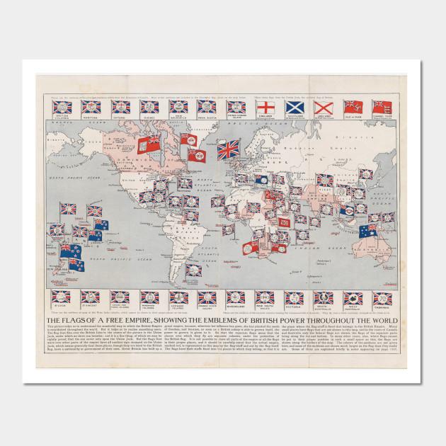 Vintage british empire world map 1910 world map wall art 2340296 0 gumiabroncs Choice Image