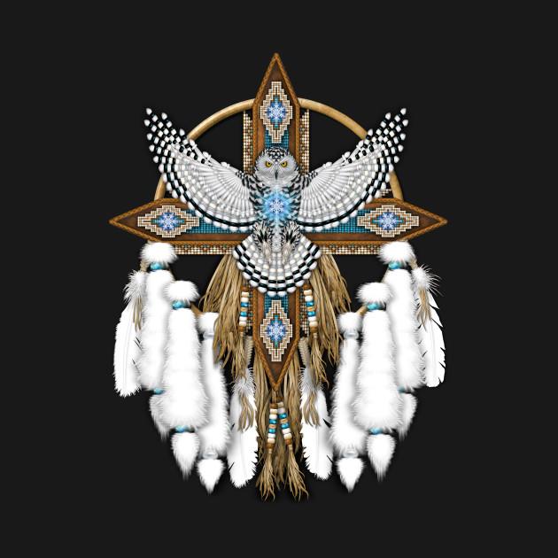 snowy owl native american mandala snowy owl native american mandala
