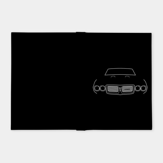 1969 vintage Pontiac Firebird outline graphic (white)
