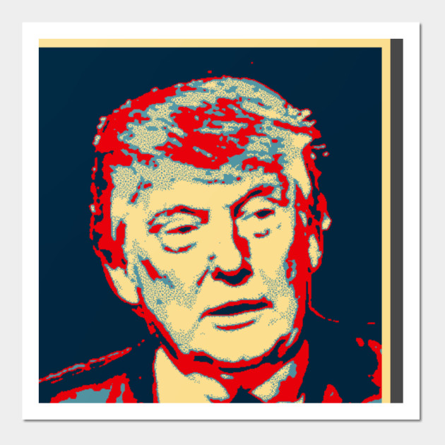 donald trump bigly obama style poster t shirt trump wall art