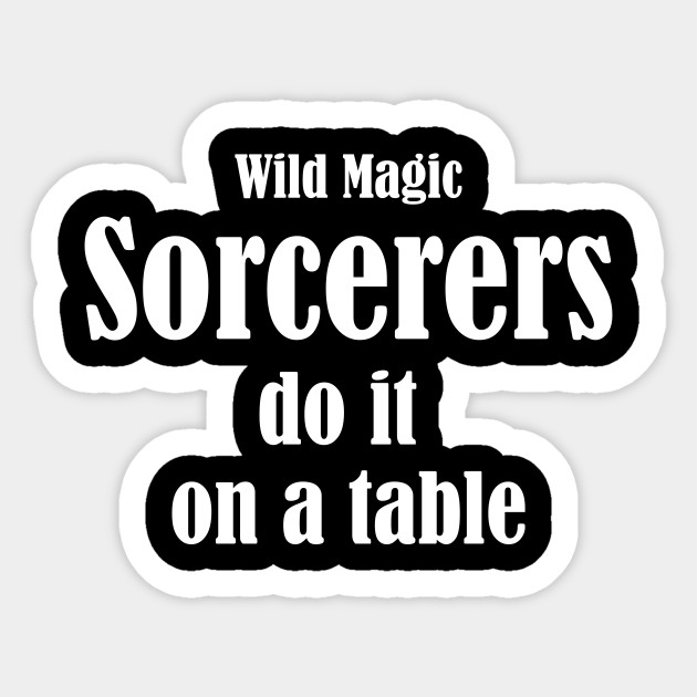 Wild Magic White Sorcerer Sticker
