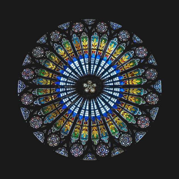 Strasbourg Cathedral France Mandala Stained Glass Window Art
