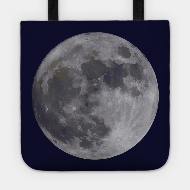 Real Moon Painting - Moon - Tote TeePublic