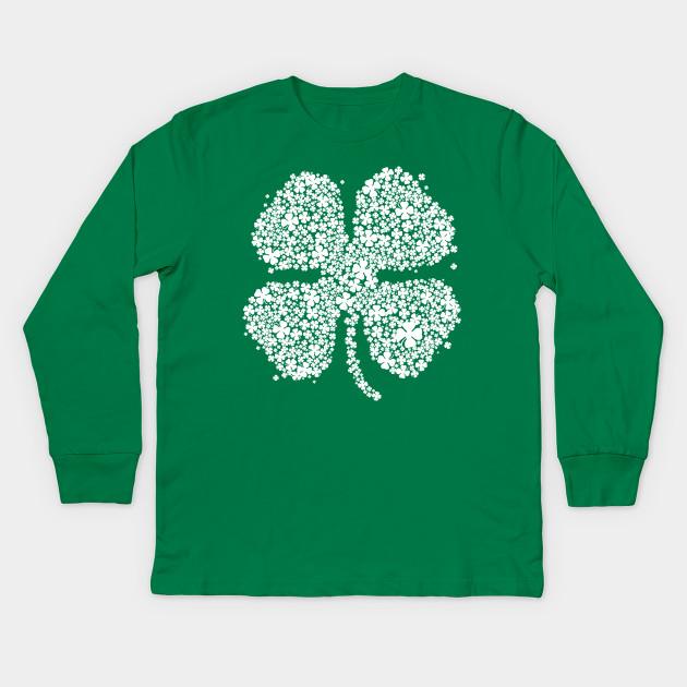 8e0c7ce52 Four Leaf Clover Green Shirt St Patricks Day Shamrock Shirt III Kids Long  Sleeve T-Shirt