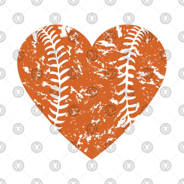 I <3 Baseball (Orange)
