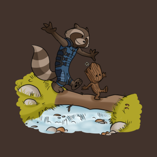 Rocket and Groot t-shirts