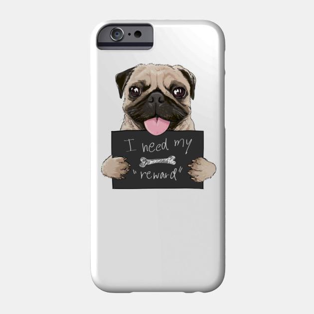 funny pug Phone Case