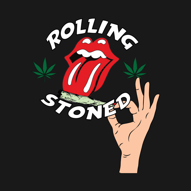 a52677ccc8286 Rolling stoned - Weed - T-Shirt