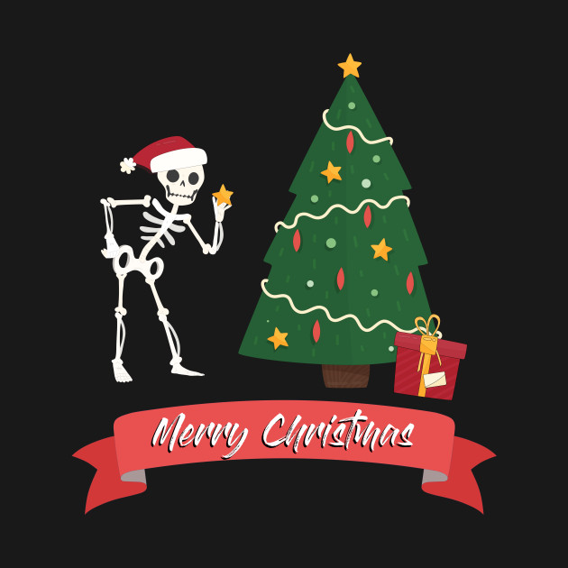 Christmas Skeleton.Christmas Skeleton