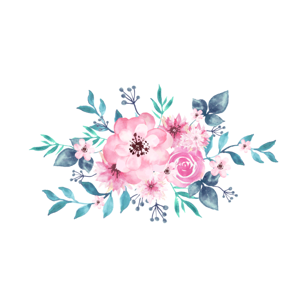 Watercolor Handrawn Rose Bouquet 🌹