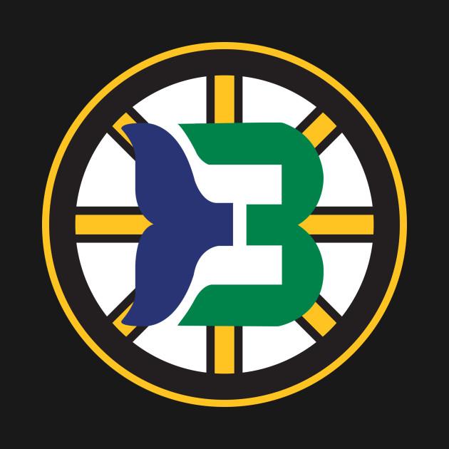 cfd748dbd8e Boston Whalers - Hartford Bruins Logo Mashup - Boston Bruins - T ...