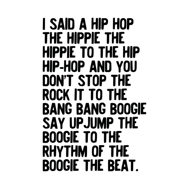 Rappers Delight - Sugarhill Gang Hip Hop Music Lyrics