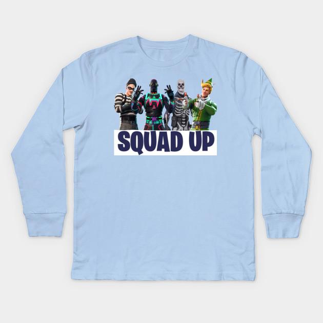 b1d32204d Squad up! - Fortnite - Kids Long Sleeve T-Shirt | TeePublic