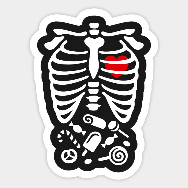 7e1a195cb0 Scary Halloween X-Ray costume candy - Candy - Sticker | TeePublic