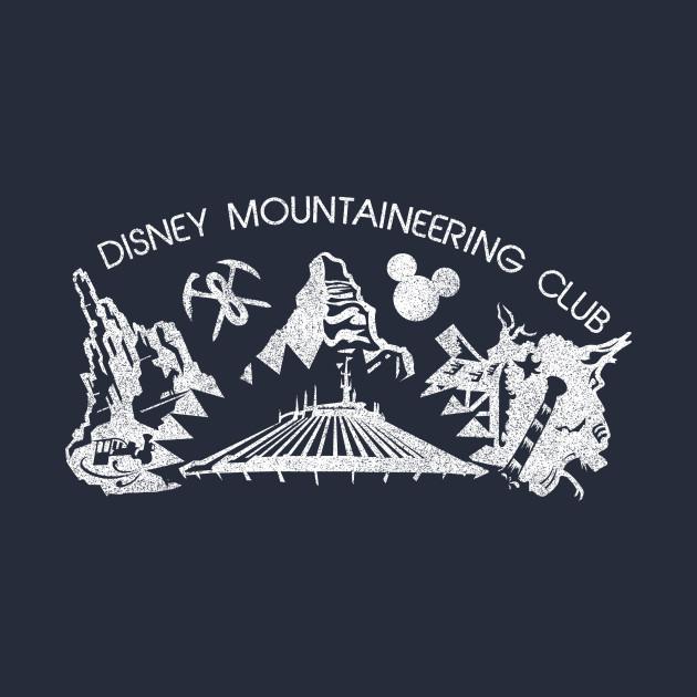 Disney Mountaineering Club Vintage (dark-colored shirts)
